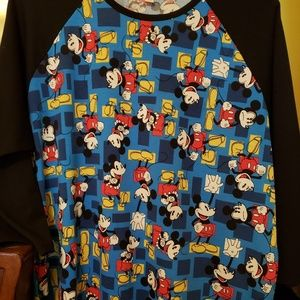 Lularoe Randy Raglin Style Top (Disney Collection)
